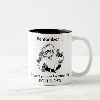 サンタのいけないマグ ツートーンマグカップ