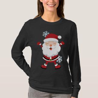 サンタのかわいいワイシャツ-十代の若者たち及びレディースサイズ Tシャツ