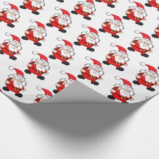 サンタのかわいい光沢のある包装紙 ラッピングペーパー