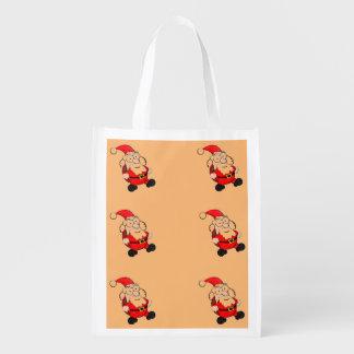サンタのかわいい再使用可能な買い物袋 エコバッグ