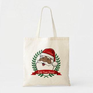 サンタのすてきな民族のカスタム トートバッグ
