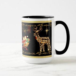 サンタのそりの乗車のクリスマスのマグ マグカップ