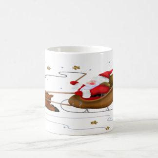 サンタのそり-クラシックで白いマグ コーヒーマグカップ