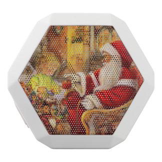 サンタのそり-サンタクロースのイラストレーション ホワイトBluetoothスピーカー