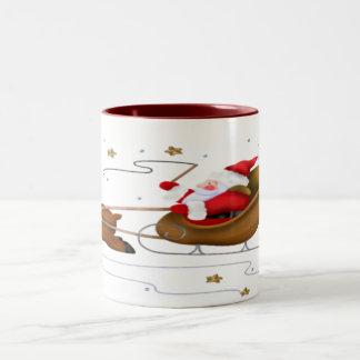 サンタのそり-ツートーンマグ ツートーンマグカップ