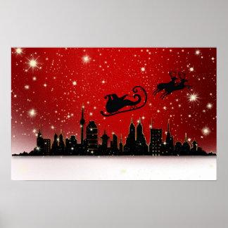 サンタのそり ポスター