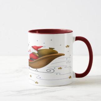 サンタのそり-信号器のマグ マグカップ
