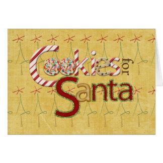 サンタのためのクッキーそしてキャンデー カード