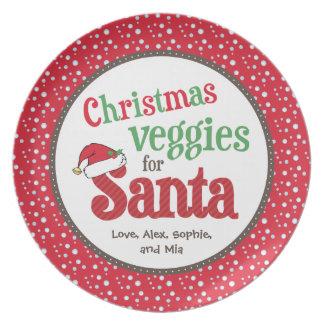 サンタのためのクリスマスの野菜 プレート