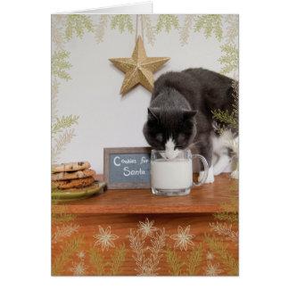 サンタのための子猫のクッキー カード