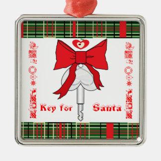サンタのための鍵 メタルオーナメント