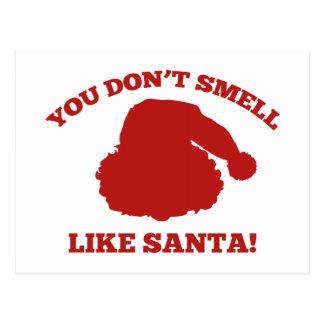 サンタのように臭いがしません! ポストカード