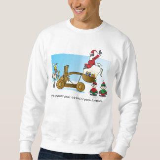 サンタのカーボン足跡 スウェットシャツ