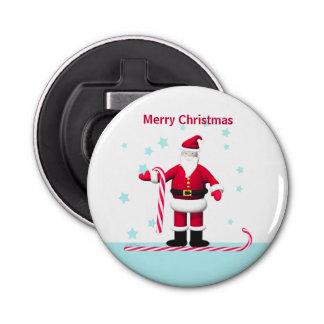 サンタのキャンディ・ケーンおよび星のクリスマス 栓抜き