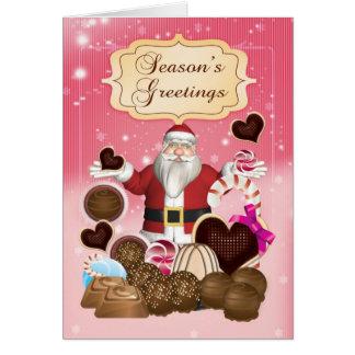 サンタのキャンデーのクリスマスの季節の挨拶状 カード