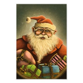サンタのギフトの休日の写真のプリント フォトプリント