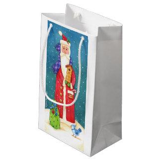 サンタのギフトバッグ スモールペーパーバッグ