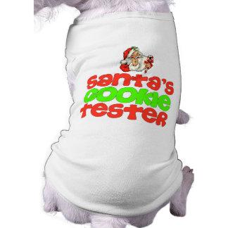 サンタのクッキーのテスターのクリスマス犬のワイシャツ ペット服