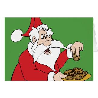 サンタのクッキー カード