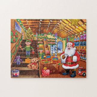 サンタのクリスマスのおもちゃの研修会のジグソーパズル ジグソーパズル