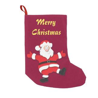 サンタのクリスマスのストッキング スモールクリスマスストッキング