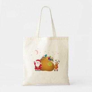 サンタのクリスマスの星のトートバック トートバッグ