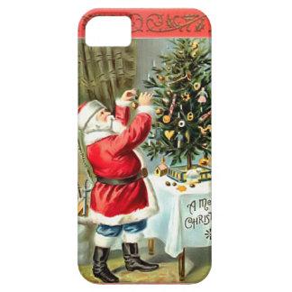 サンタのクリスマスツリーのクリスマスの電話カバーを飾ること iPhone SE/5/5s ケース