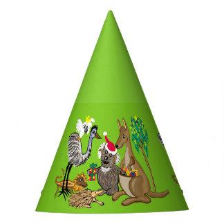 サンタのコアラのオーストラリアのクリスマス動物 パーティーハット