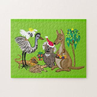 サンタのコアラのクリスマスプレゼント ジグソーパズル