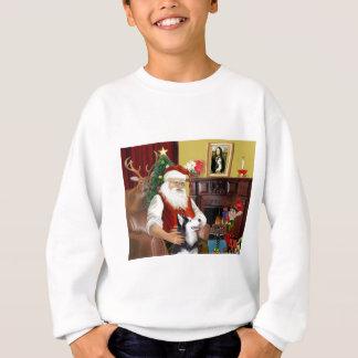 サンタのシベリアンハスキー スウェットシャツ