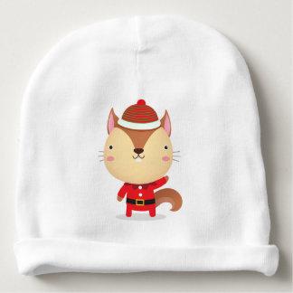 サンタのシマリスの乳児の帽子 ベビービーニー
