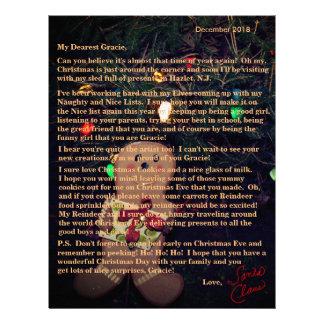 サンタのジンジャーブレッドマンからの手紙 レターヘッド