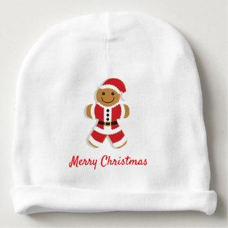 サンタのジンジャーブレッドマン|のベビーの帽子 ベビービーニー