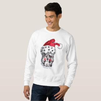 サンタのスエットシャツ-サンタクロースのスカル スウェットシャツ