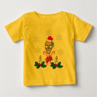 サンタのスカルに接吻して下さい ベビーTシャツ