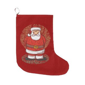 サンタのスケッチ ラージクリスマスストッキング