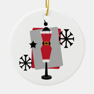 サンタのスーツの服の型枠のマネキンのクリスマスのオーナメント セラミックオーナメント