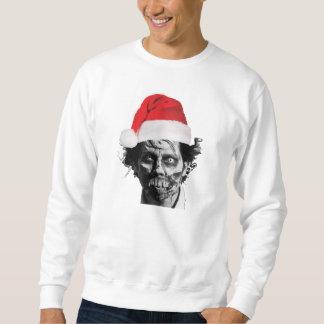 サンタのゾンビのセーターのトレーナー スウェットシャツ