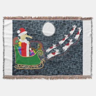 サンタのダックスフント スローブランケット