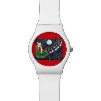 サンタのダックスフント 腕時計