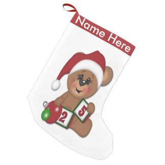 サンタのテディー・ベア スモールクリスマスストッキング