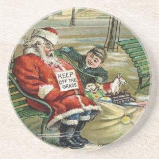 サンタのビクトリアンなクリスマス コースター