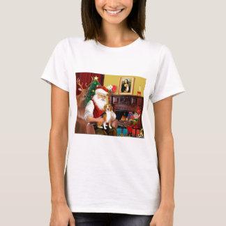 サンタのビーグル犬(#7) Tシャツ