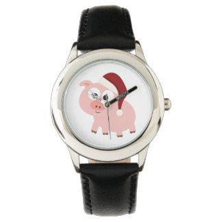 サンタのブタ 腕時計