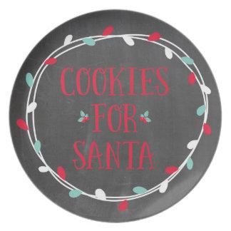 サンタのプレートのためのクッキー プレート