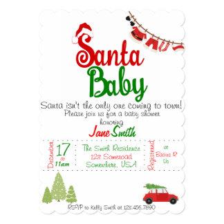 サンタのベビーのベビーシャワー カード
