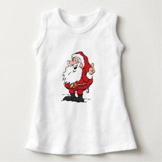 サンタのベビーの袖なしの服 ドレス
