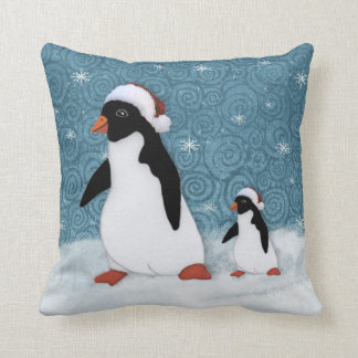 サンタのペンギンの枕 クッション