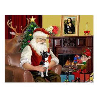 サンタのボストンテリア ポストカード