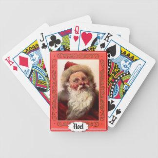 サンタのポートレート-カードを遊ぶこと バイスクルトランプ